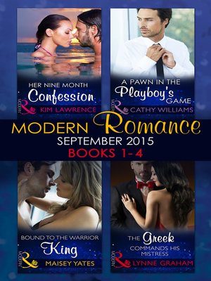 cover image of Modern Romance September 2015, Books 1-4